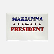 MARIANNA for president Rectangle Magnet