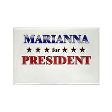 MARIANNA for president Rectangle Magnet (10 pack)