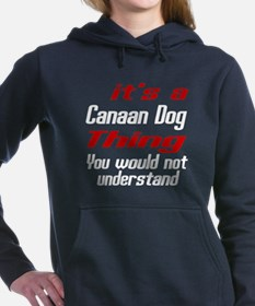 Canaan Dog Thing Designs Women's Hooded Sweatshirt
