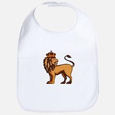 King Lion Crown Looking Side Retro Bib