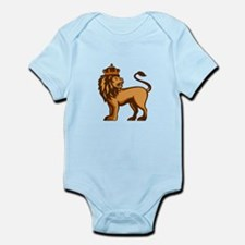 King Lion Crown Looking Side Retro Body Suit