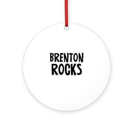 Brenton Rocks Ornament (Round)