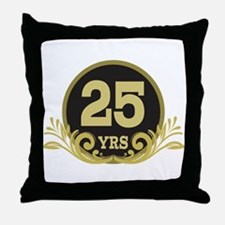 25th Wedding Anniversary gift Throw Pillow