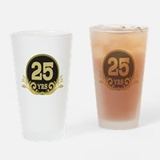 25th Wedding Anniversary gift Drinking Glass