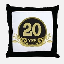20th Wedding Anniversary Throw Pillow