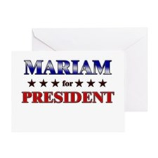MARIAM for president Greeting Card