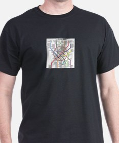 METRO MAPS - MOSCOW - RUSSIA. T-Shirt