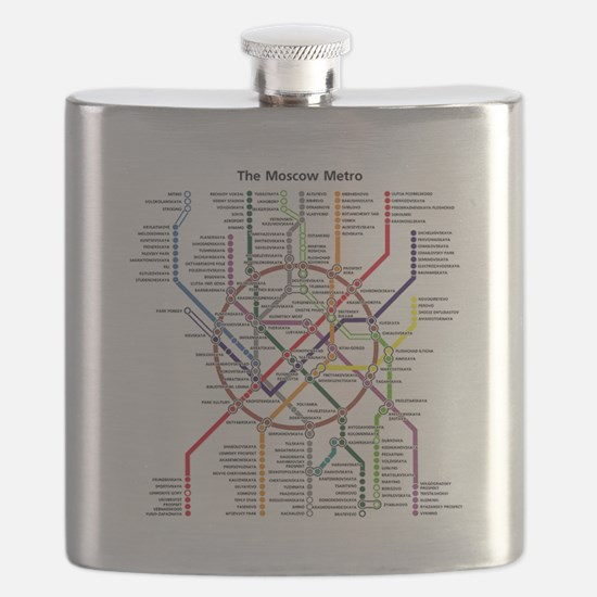 METRO MAPS - MOSCOW - RUSSIA. Flask