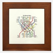 METRO MAPS - MOSCOW - RUSSIA. Framed Tile