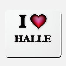 I Love Halle Mousepad