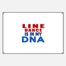 Line Dance Is In My DNA Banner