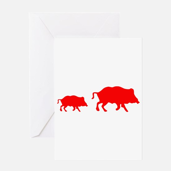 Pigs Greeting Cards