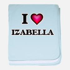 I Love Izabella baby blanket