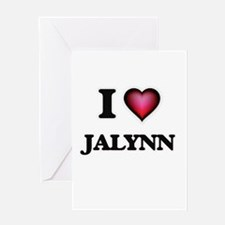 I Love Jalynn Greeting Cards