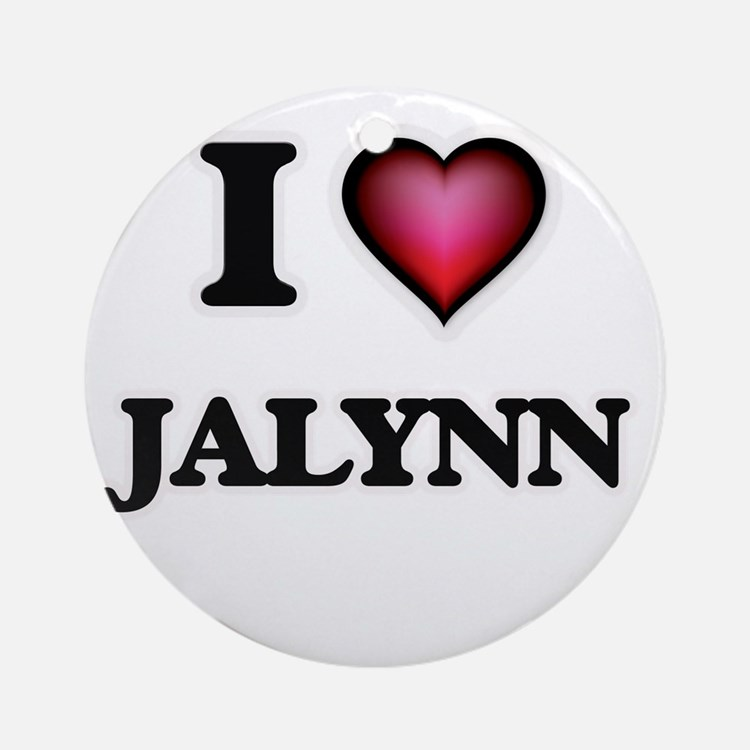 I Love Jalynn Round Ornament