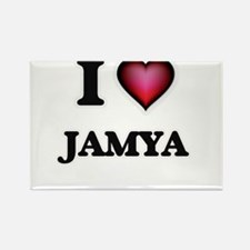 I Love Jamya Magnets