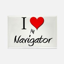 I Love My Navigator Rectangle Magnet