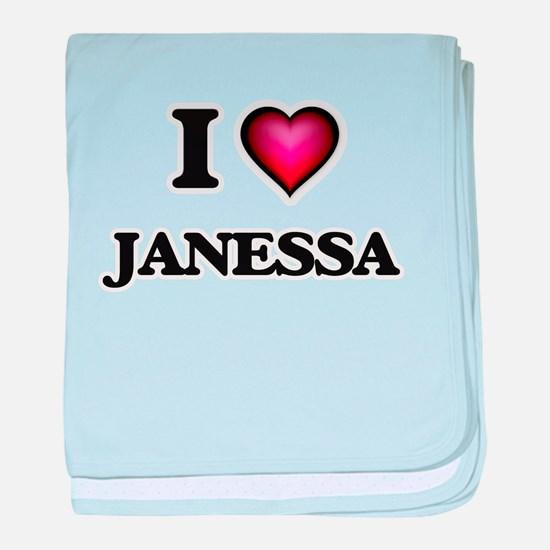 I Love Janessa baby blanket