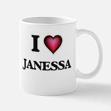 I Love Janessa Mugs
