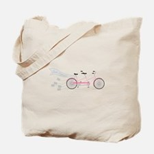 Just Married Bike Tote Bag
