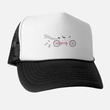 Wedding Tandem Bike Trucker Hat