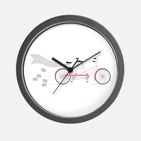 Wedding Tandem Bike Wall Clock
