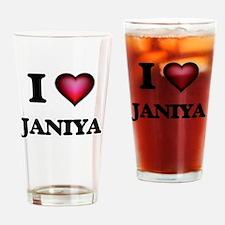 I Love Janiya Drinking Glass