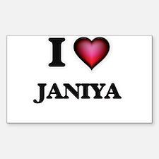 I Love Janiya Decal