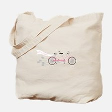 Newlywed Bike Tote Bag