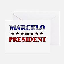 MARCELO for president Greeting Card
