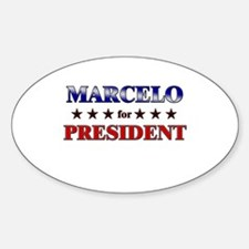 MARCELO for president Oval Decal