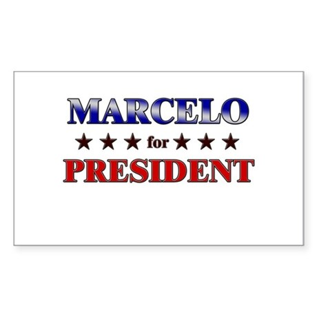 MARCELO for president Rectangle Sticker