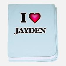 I Love Jayden baby blanket