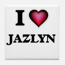 I Love Jazlyn Tile Coaster
