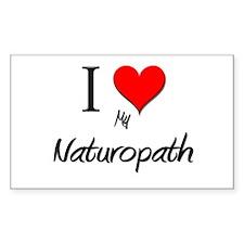 I Love My Naturopath Rectangle Decal