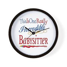 Incredible Babysitter Wall Clock