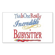 Incredible Babysitter Rectangle Decal
