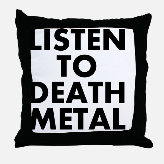 Funny Death metal Throw Pillow