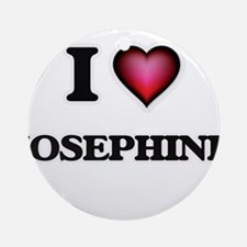 I Love Josephine Round Ornament