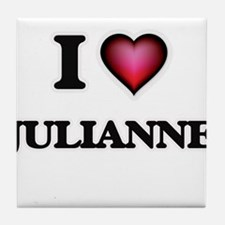 I Love Julianne Tile Coaster
