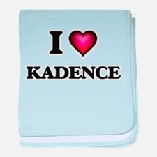 I Love Kadence baby blanket