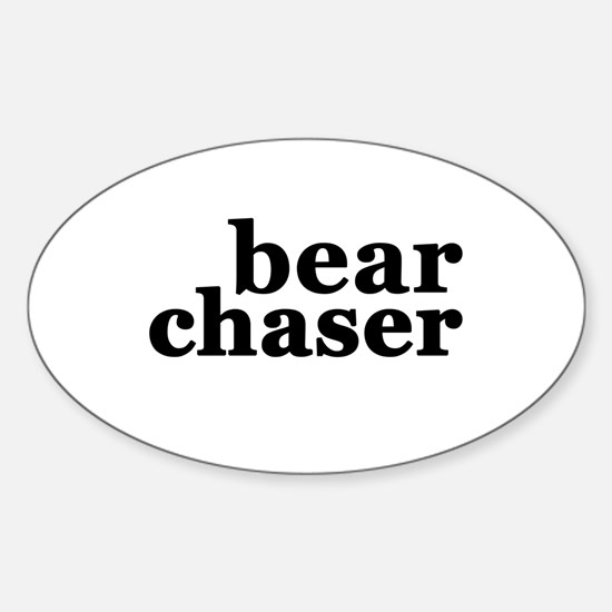 Bear Chaser Sticker (Oval)