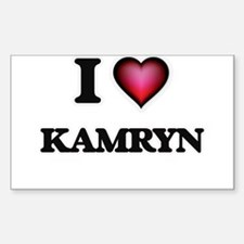 I Love Kamryn Decal