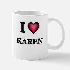 I Love Karen Mugs