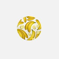 Banana Fruity Pattern Mini Button