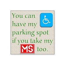 Ms Parking Sticker