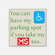 Ms Parking Sticker