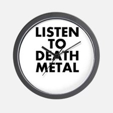 Listen To Death Metal Wall Clock