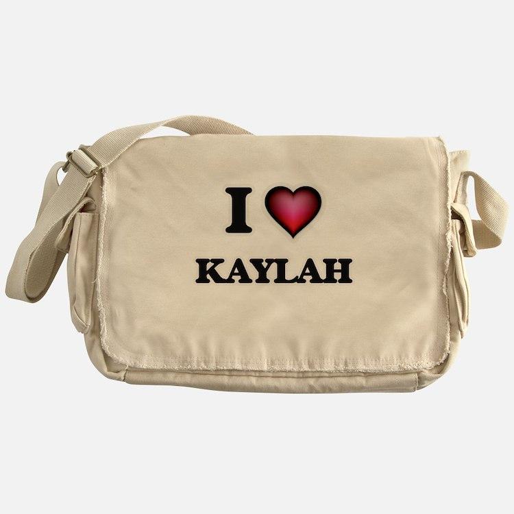 I Love Kaylah Messenger Bag