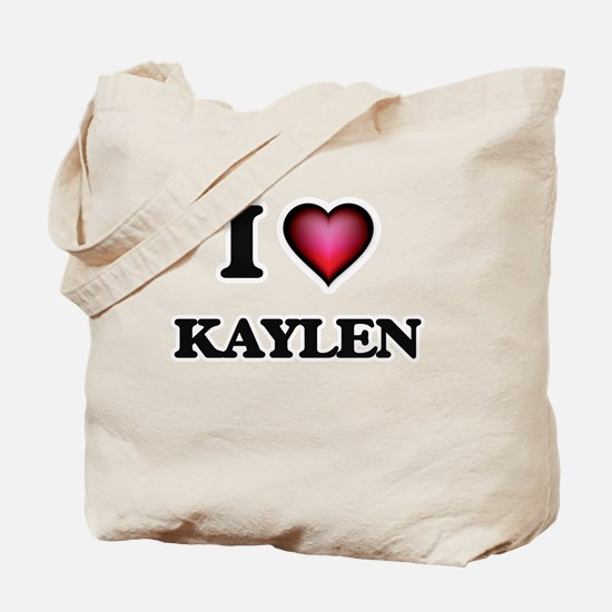I Love Kaylen Tote Bag